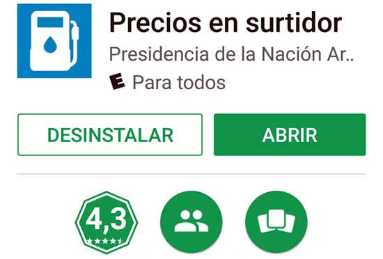 Aranguren presentó la aplicación para conocer por celular los precios de los combustibles en Estaciones de Servicio