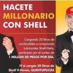 Hacete Millonario: la nueva promo de Shell que sortea un millón de pesos por día