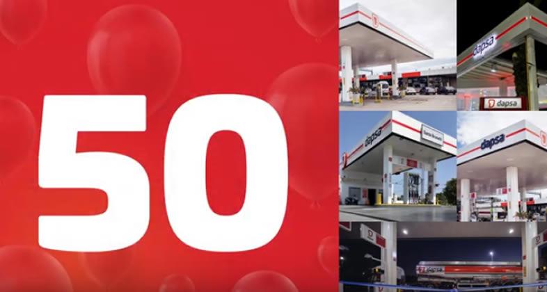 DAPSA embanderó la Estación de Servicio número 50 y va por 100 más este año