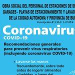 El sindicato de Estaciones de Servicio lanzó una campaña contra el Coronavirus