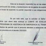 Estacioneros realizaron una presentación conjunta para ser alcanzados por el subsidio salarial