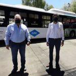 Se presentó la primera unidad de transporte público 100 por ciento a GNC del país