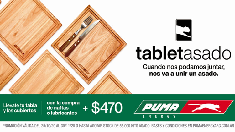 """""""TabletAsado"""": La nueva promoción de Puma energy en sus Estaciones de Servicio"""